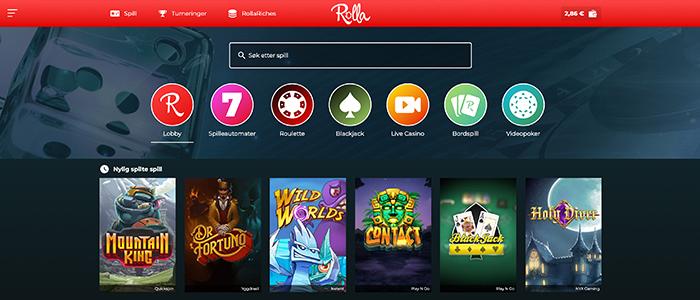 Rolla - 100% bonus opptil 5000 kr + 500 gratisspinn