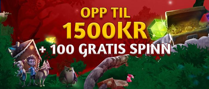 Slotsons - Velkomstpakke 1.500 kr + 100 frispinn