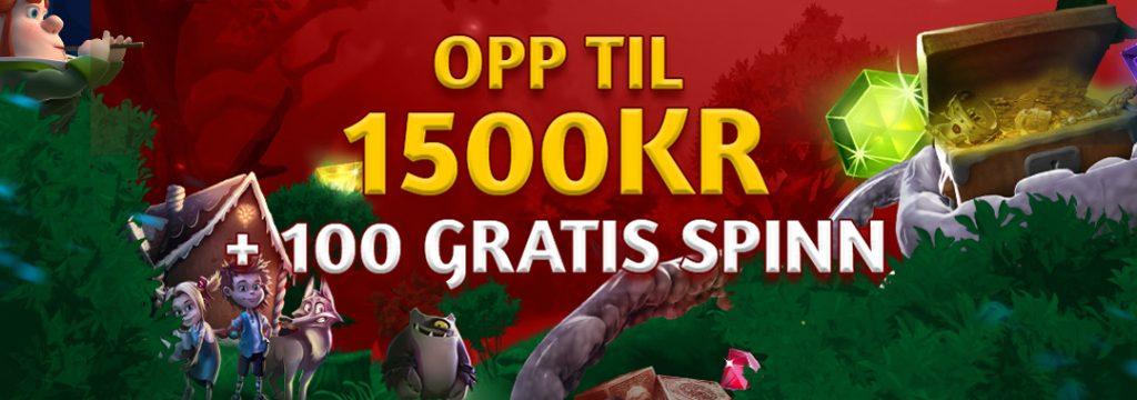 Slotsons - Velkomstpakke 1.500 kr og 100 frispinn