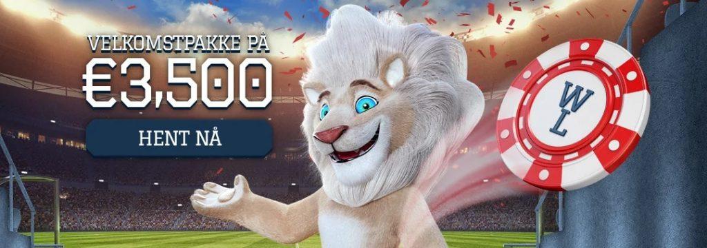 White Lion Casino - Velkomstpakke på 35.000 kr