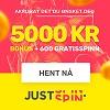 Justspin - 100 gratisspinn uten innskudd