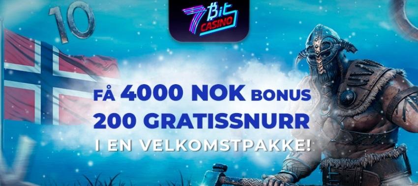 7BitCasino - 100% velkomstbonus opp til 1.000 kr